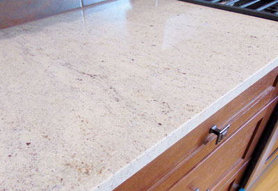 White marble custom countertop